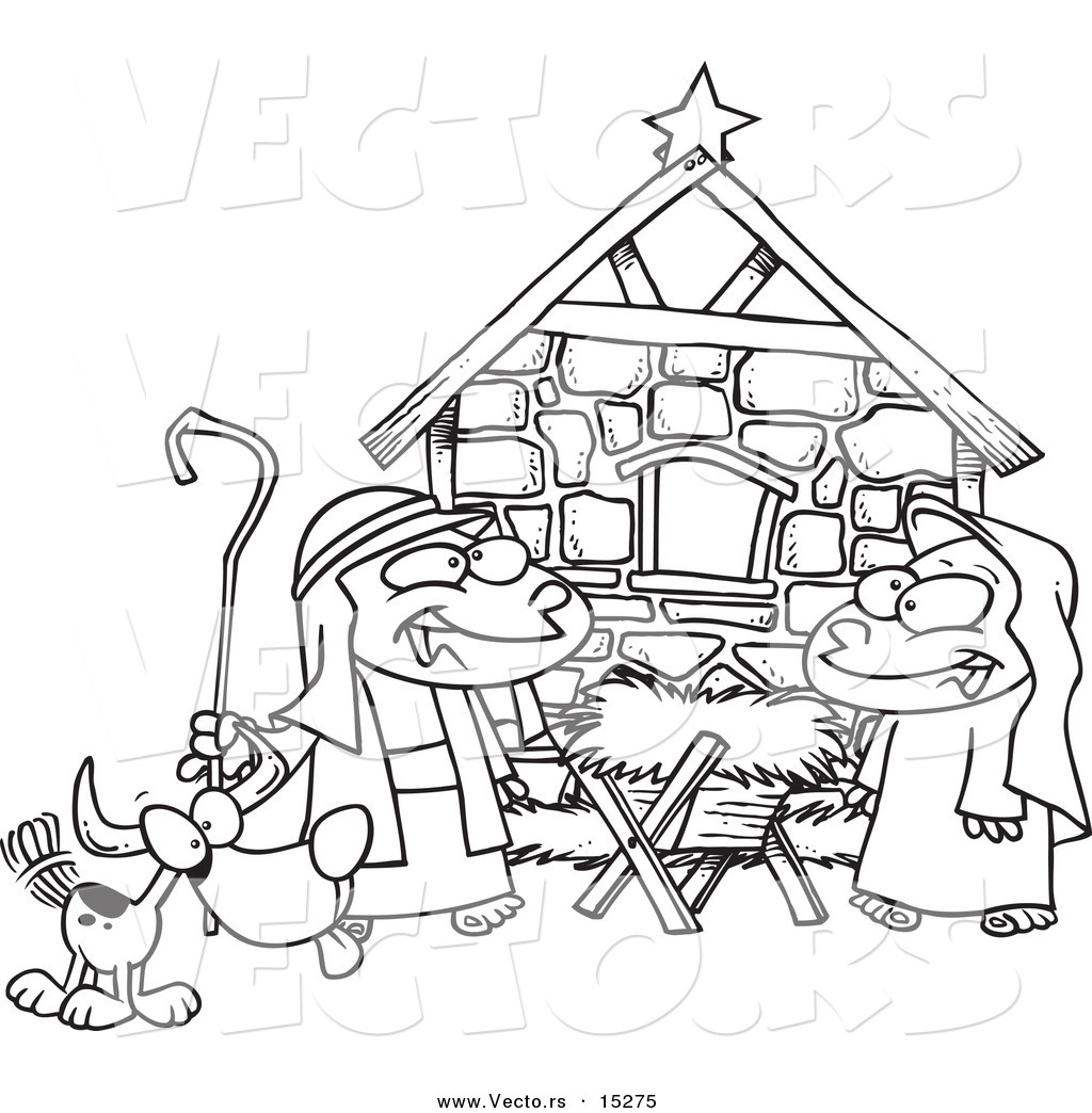 1024x1044 Clip Art Nativity Black And White