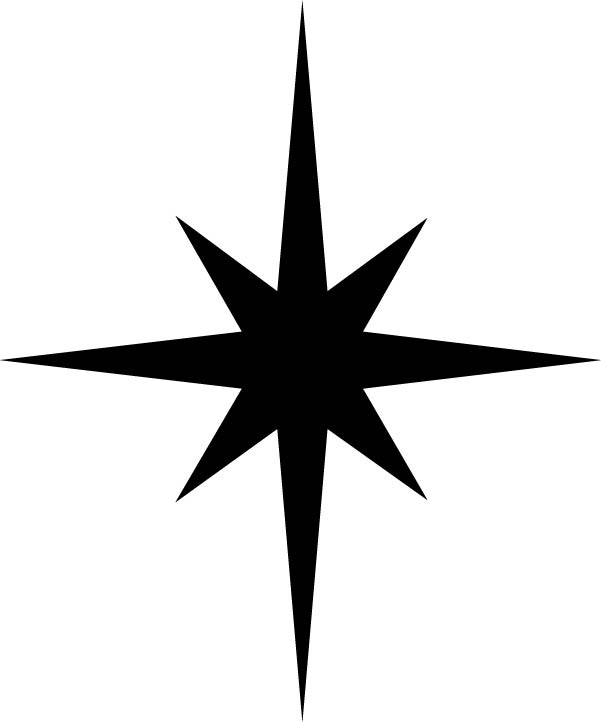 601x722 Manger Star Clipart Black And White Collection