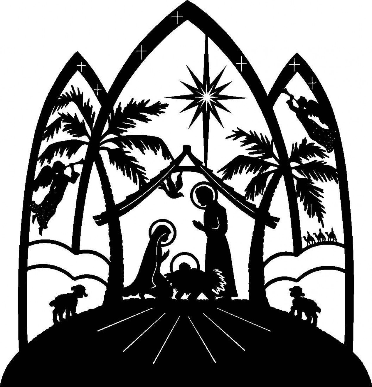 1267x1318 15 Nativity Pictures Black And White Selection Black And White