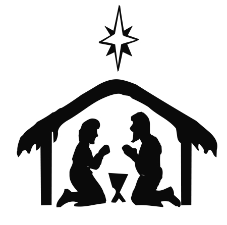 450x446 Nativity Silhouette Blocks