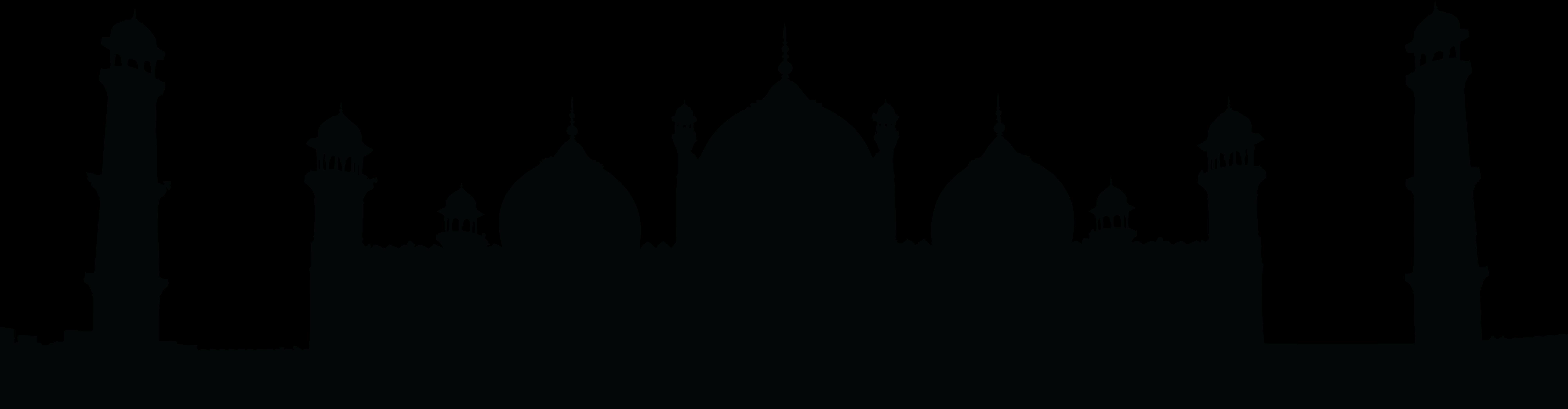 8000x2089 Free Clipart Of A Badshahi Mosque Lahore Pakistan Black And White