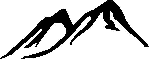 600x239 Mountain Silhouette Clipart