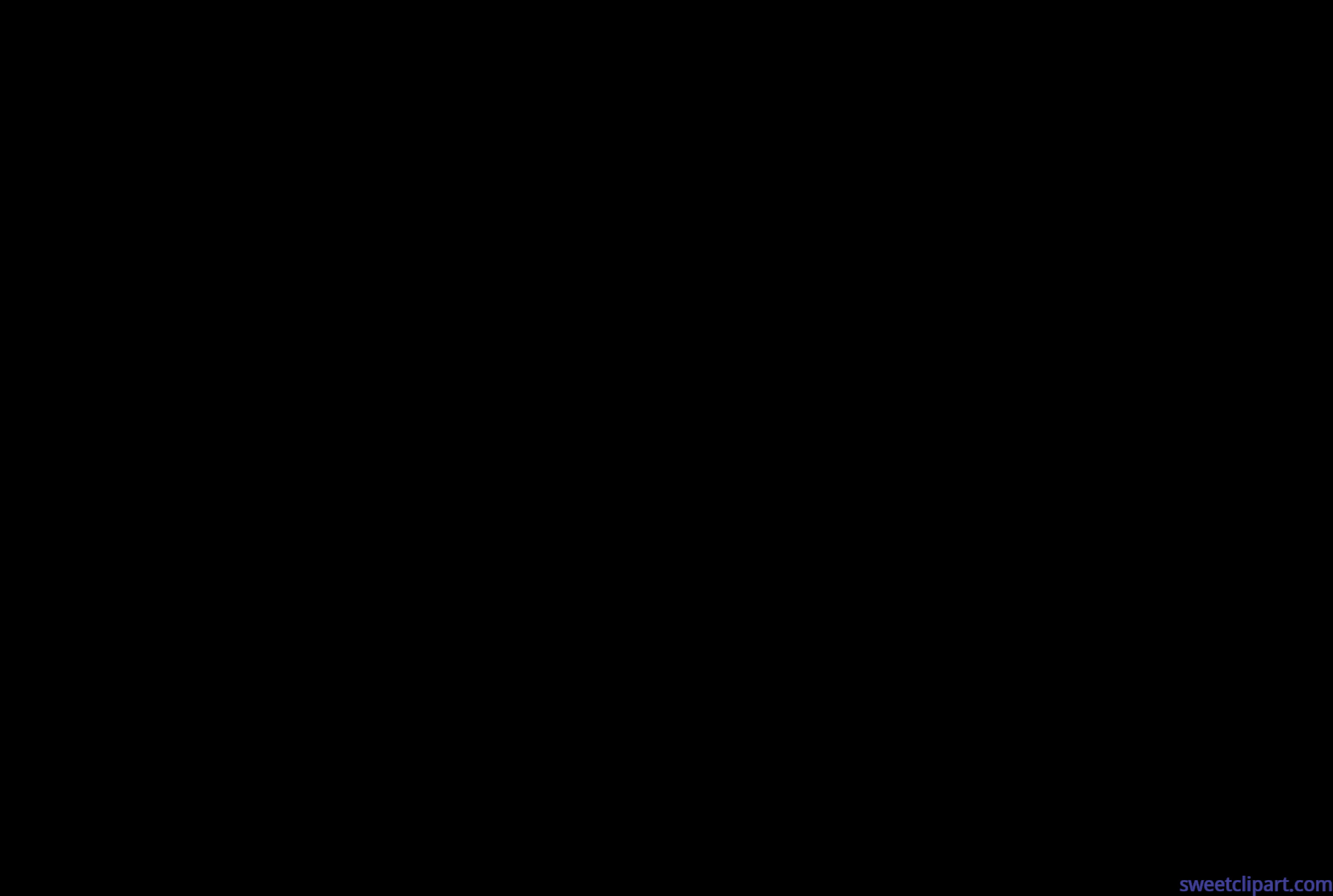 5381x3618 Butterfly Black Silhouette Clip Art