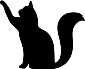 300x242 Cat Silhouette Clipart Black And White