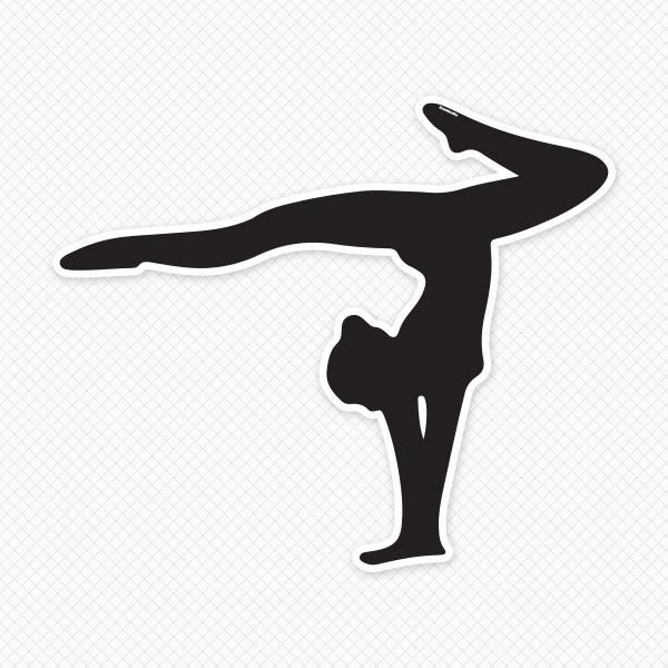 600x600 Gymnastics Clipart Black And White
