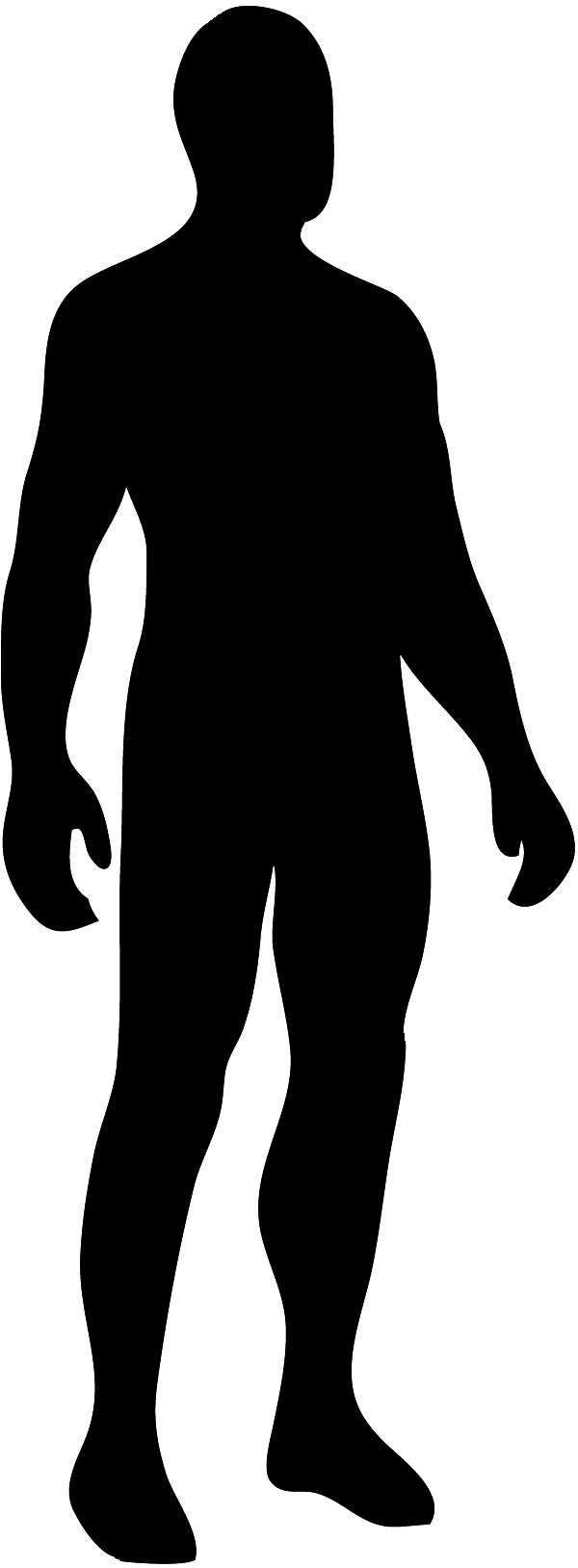 600x1627 Human Being Clipart Black And White