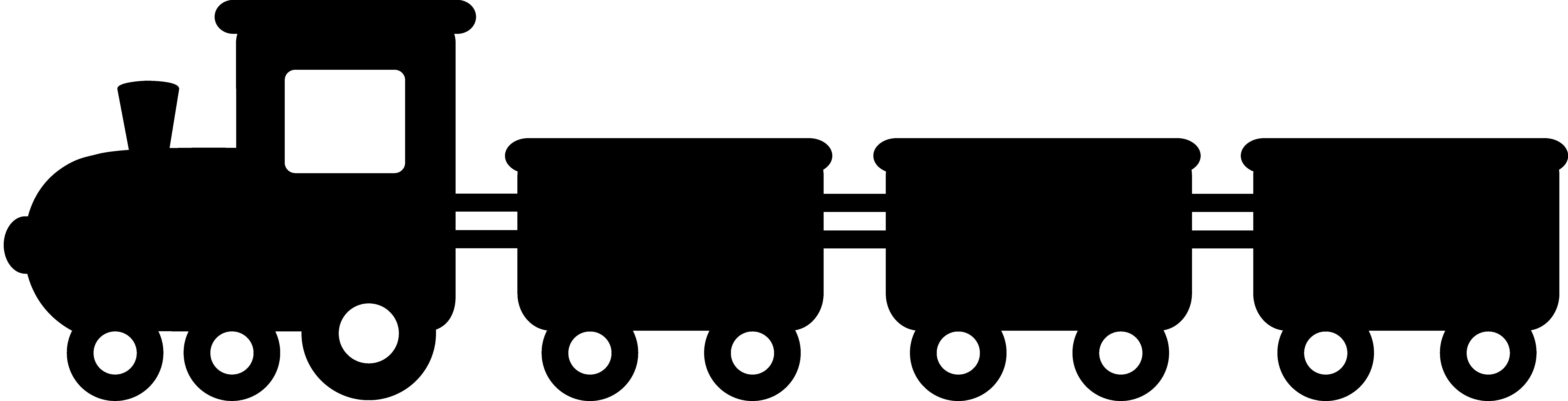 8883x2276 Passenger Train Png Black And White Transparent Passenger Train