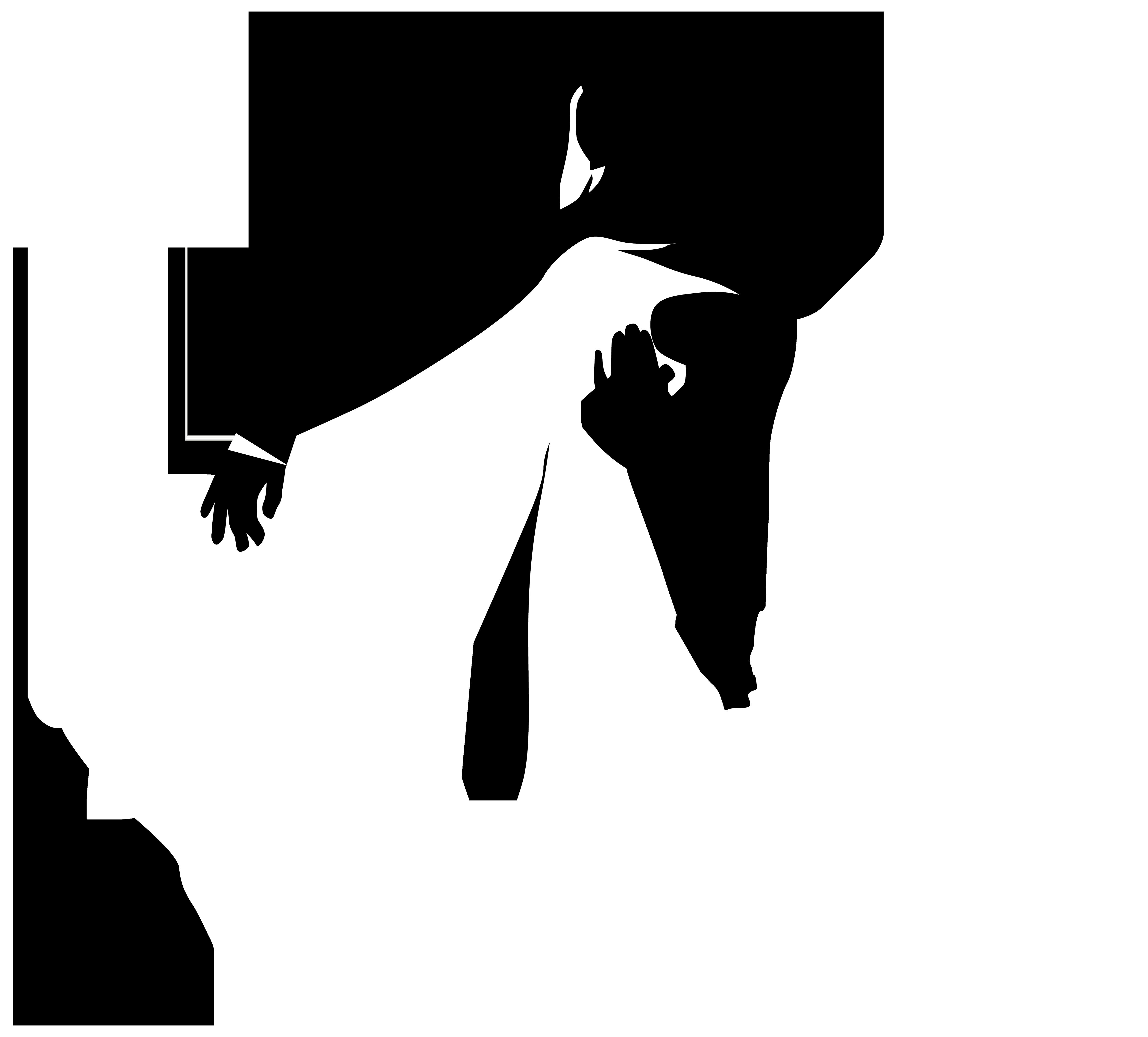 4984x4500 Silhouette Bride Clipart