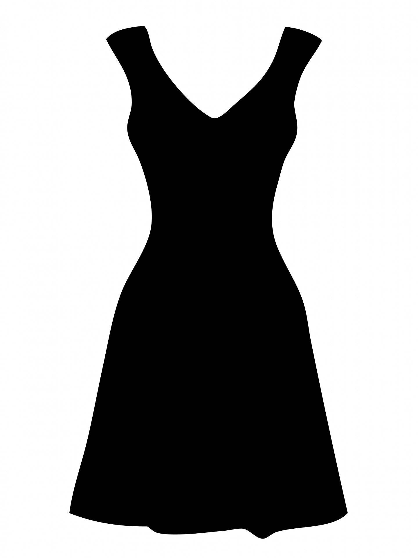 1440x1920 Free Clipart Of Dresses Black Dress Clipart By Karen Arnold