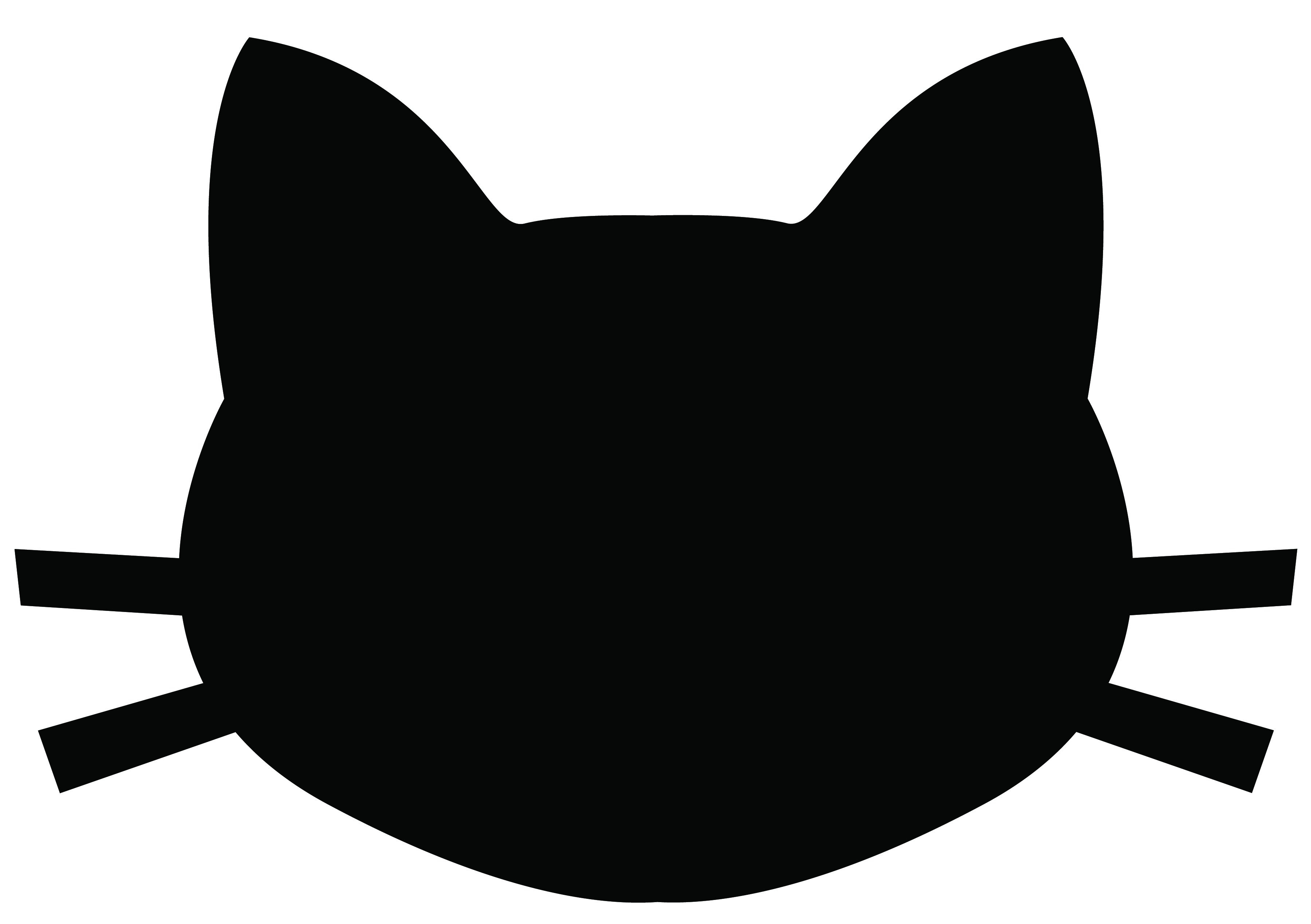 3600x2538 Vector Silhouette Face Kitty