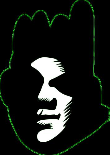 355x500 Vector Image Of Black Face Silhouette Public Domain Vectors