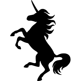 263x262 Cozy Design Unicorn Black And White Leaf Template 10 Silhouette