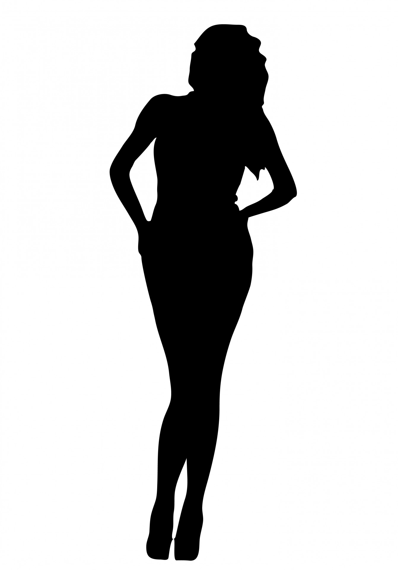 1342x1920 Woman Black Silhouette Free Stock Photo