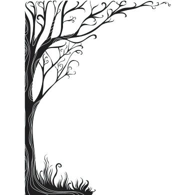 Black And White Tree Silhouette At Getdrawings Com Free For
