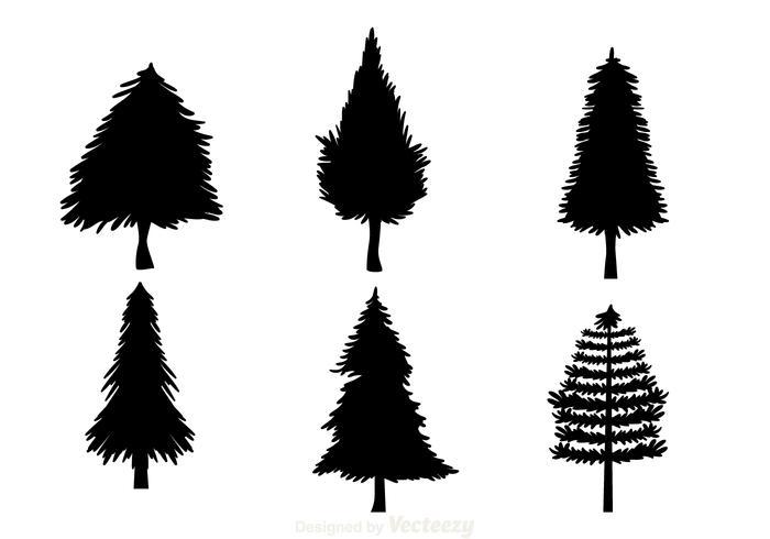 700x490 Black Christmas Tree Silhouettes