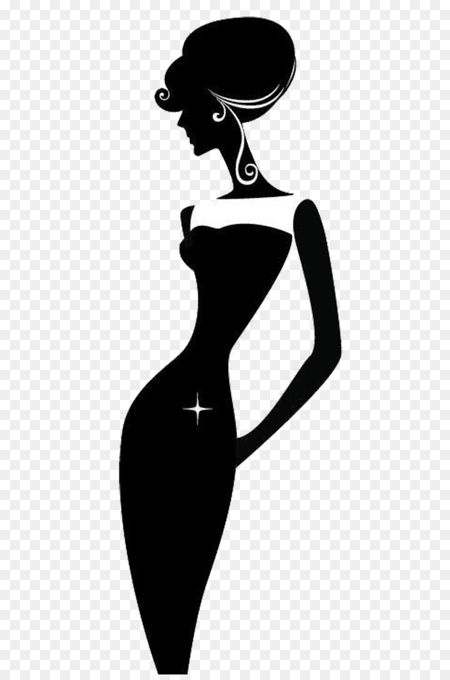 900x1360 Silhouette Woman Royalty Free Clip Art