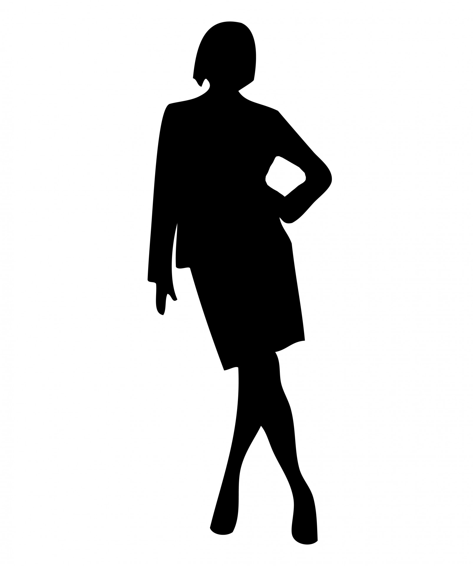 1606x1920 Woman Black Silhouette Free Stock Photo
