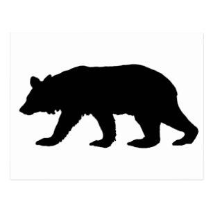 307x307 Black Bear Silhouette Postcards Zazzle