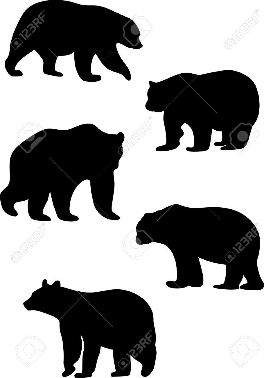 909x1300 Black Bear Clipart Silhouette
