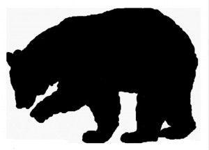 300x216 Black Bear Template Bear Necessity Bear Template