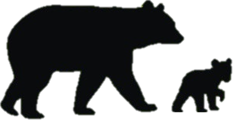 466x241 Grizzly Bear Silhouette Clip Art. Excellent Sitting Bear Black