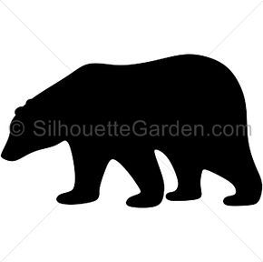 290x288 Pin By Gabriela On Projects To Try Bear Silhouette