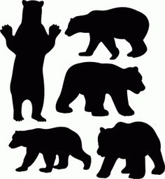 236x257 Free Black Bear And Cub Silhouette Clipart Free