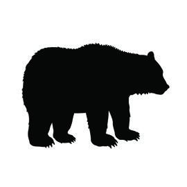 270x270 Bear Silhouette Stencil
