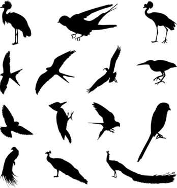 348x368 Bird Silhouette Clip Art Free Vector Download (215,453 Free Vector