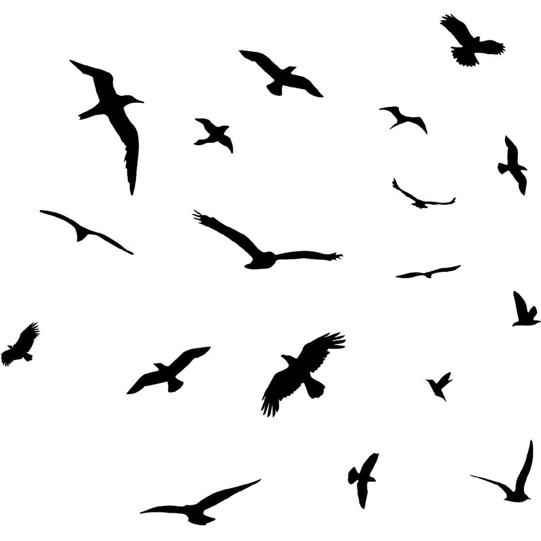 1116x1116 Flock Of Birds Flying Wall Decals Stickers Peel