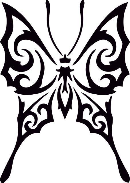 Black Butterfly Silhouette