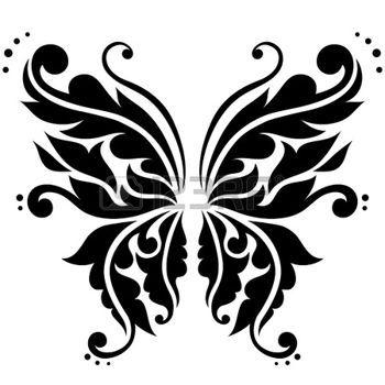 350x350 Animali Bianco E Nero Farfalla Ornamentale Tattoo My Way