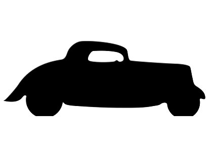 425x311 Black Fun Car Silhouette Cardboard Cutout