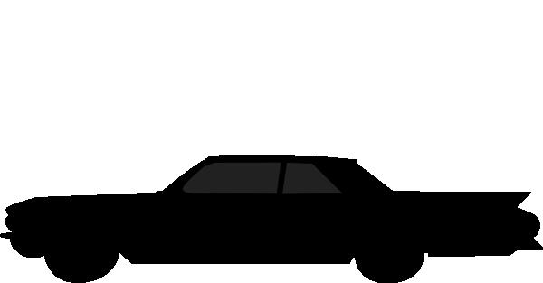 600x313 Old Car Silhouette Clip Art