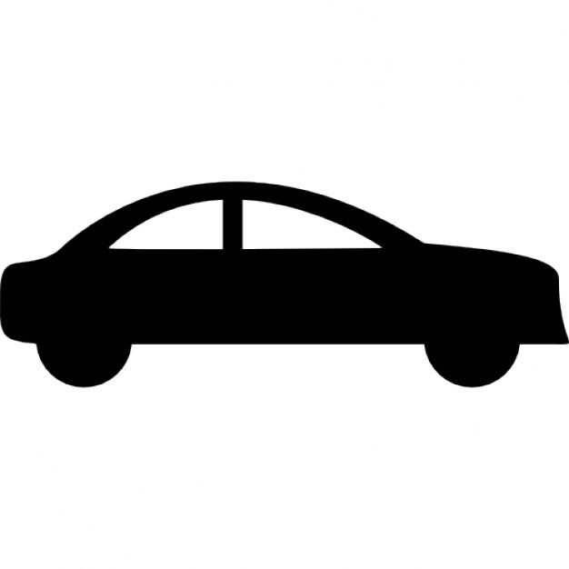 626x626 Sedan Car Side Black Silhouette Icons Free Download