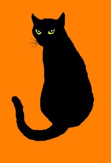 229x335 Halloween Black Cat Silhouette Clipart