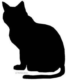 236x279 Black Cat Silhouette Keepsake Box Black Cat Silhouette, Cat