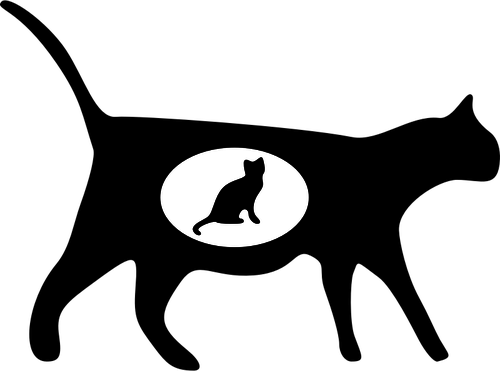 500x371 21470 Black Cat Silhouette Clip Art Free Public Domain Vectors