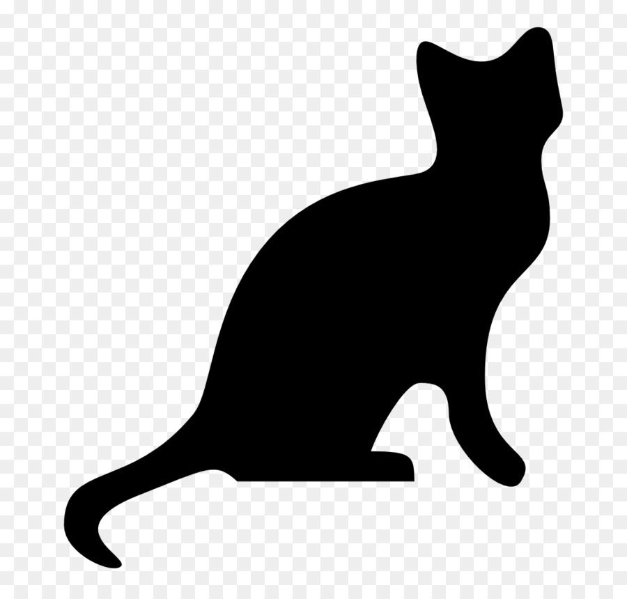 900x860 Black Cat Silhouette Clip Art