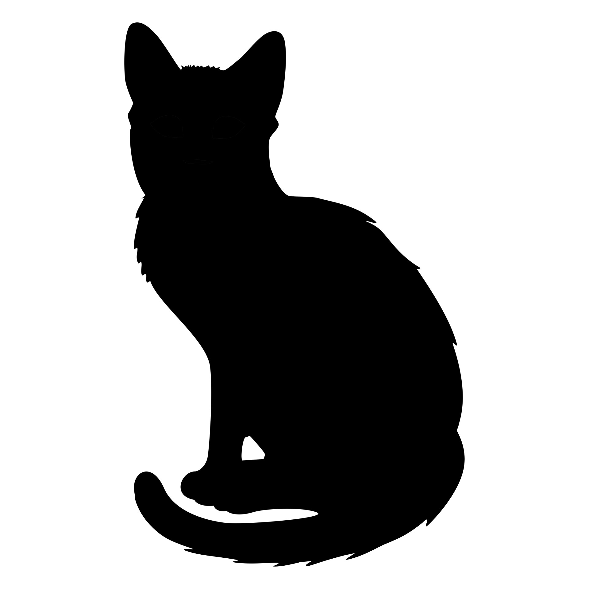 1920x1920 Cat Silhouette 2 Free Stock Photo