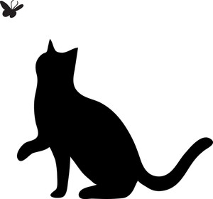 300x280 Dog And Cat Silhouette Clip Art Free Clipart Panda