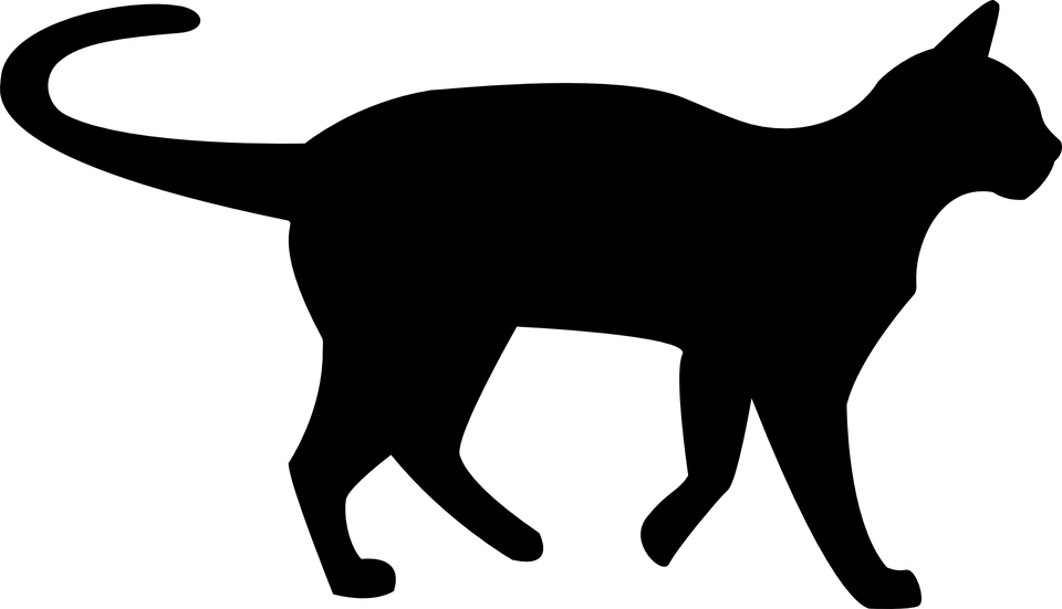 960x551 Black Cat Silhouette Png