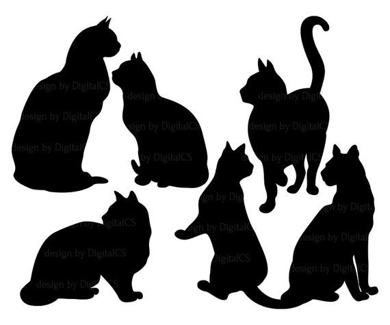 570x475 Cat Black And White Cat Clipart 2