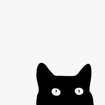 400x400 Black Cat, Pet Cat, Kitty, Cat Silhouette Png Image And Clipart