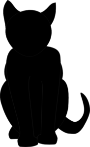 183x297 Black Cat Silhouette Clip Art