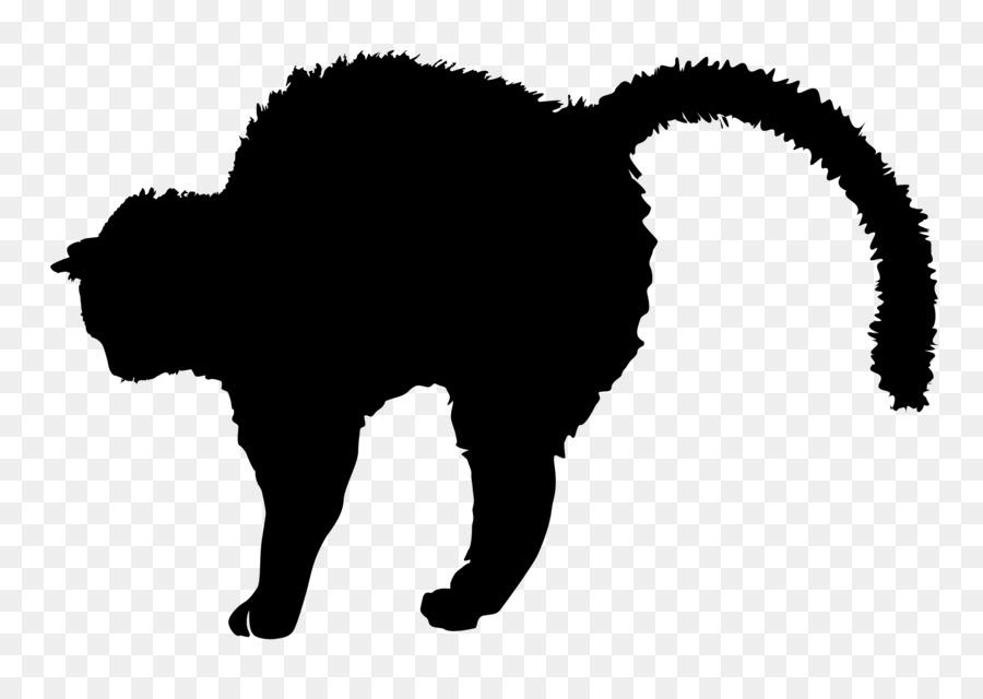 900x640 Black Cat Silhouette Kitten Clip Art