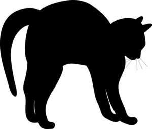 300x255 Cat Stretching Silhouette Clipart Panda