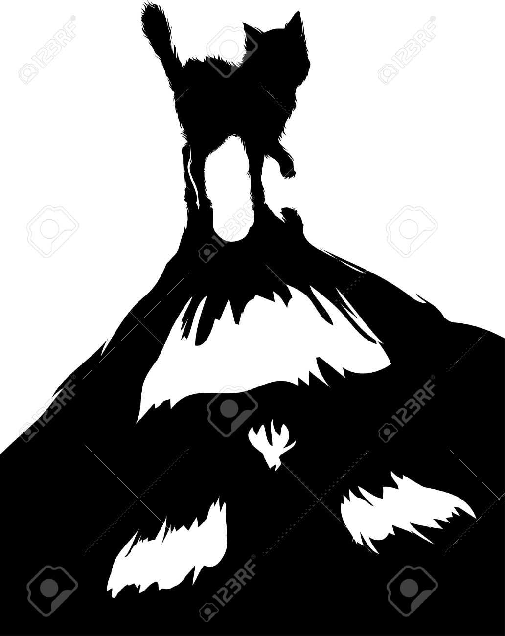1032x1300 Shadows Clipart Black Cat