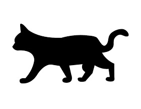 280x216 This Fresh Fossil Freebie Friday Spooky Black Cat Silhouettes