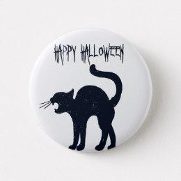 260x260 Black Cat Silhouette Halloween Buttons Amp Pins